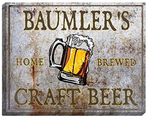 BAUMLER'S Craft Beer Stretched Canvas Sign
