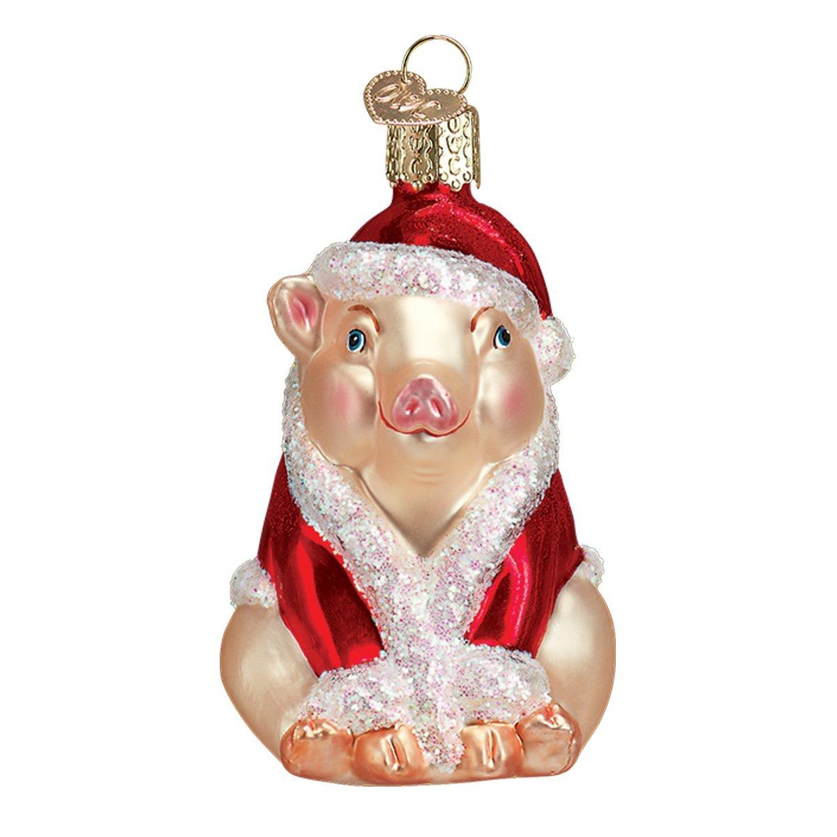 Old World Christmas Ham Glass Blown Ornament