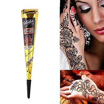 Amazon Com Temporary India Tattoo Paste Kit Body Diy Art Painting