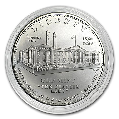 2006 S San Francisco Old Mint $1 Silver Commem BU (Capsule only) Silver Brilliant Uncirculated ()