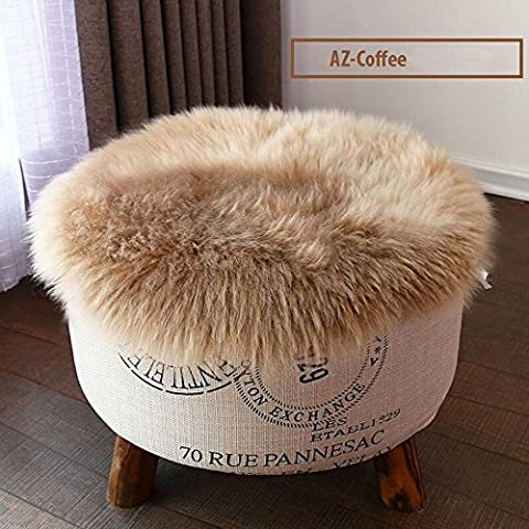 Round Sheepskin Chair Pads from MRealGal, 100% Natural Australian Lambskin, Luxurious Soft Shorn Lambskin Wool (1616 Inch, (Round Chair Pads With Ties)