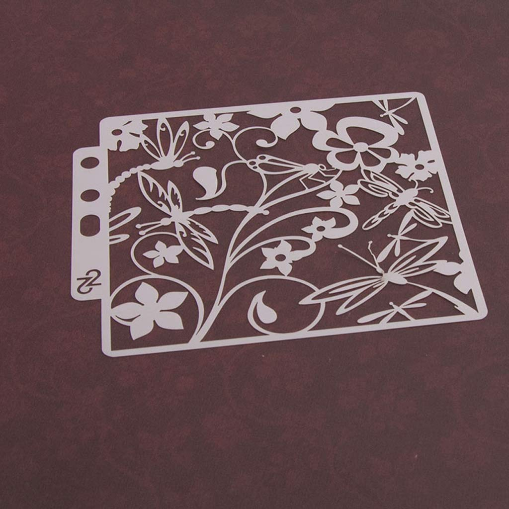 ShapeW Dragonfly Bullet Journal Stencil Plastic Planner for Journal