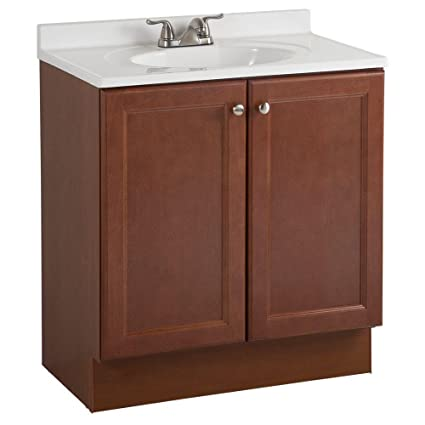 Glacier Bay All In One 30 In. W Bath Vanity Combo In Amber