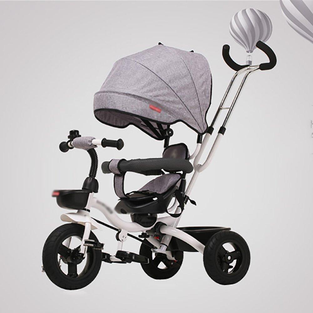 Triciclos- Plegable Niño Bicicleta Carro Infantil 1-5 Años de Edad Bebé Bicicleta Carro de Bebé Niños (Color : Gris): Amazon.es: Hogar