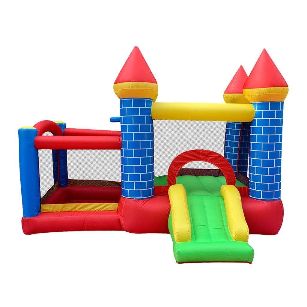 Hüpfburgen Aufblasbare Burg Kindergarten Trampolin große aufblasbare Spielzeug Outdoor kinderrutsche vergnügungspark ausrüstung (Farbe   Blau, Größe   300  275  200cm) Blau 300275200cm