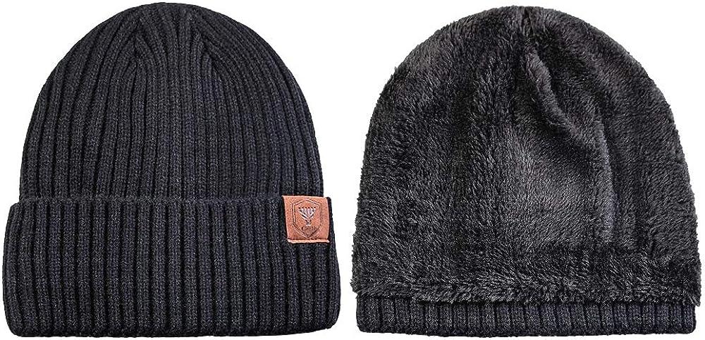 Fleece Lined Hat Beanie Stretch Fit-Polartec 200 Wind Pro Fleece Ear Warmer-Runner-Hiker-Ski-Dog Walker