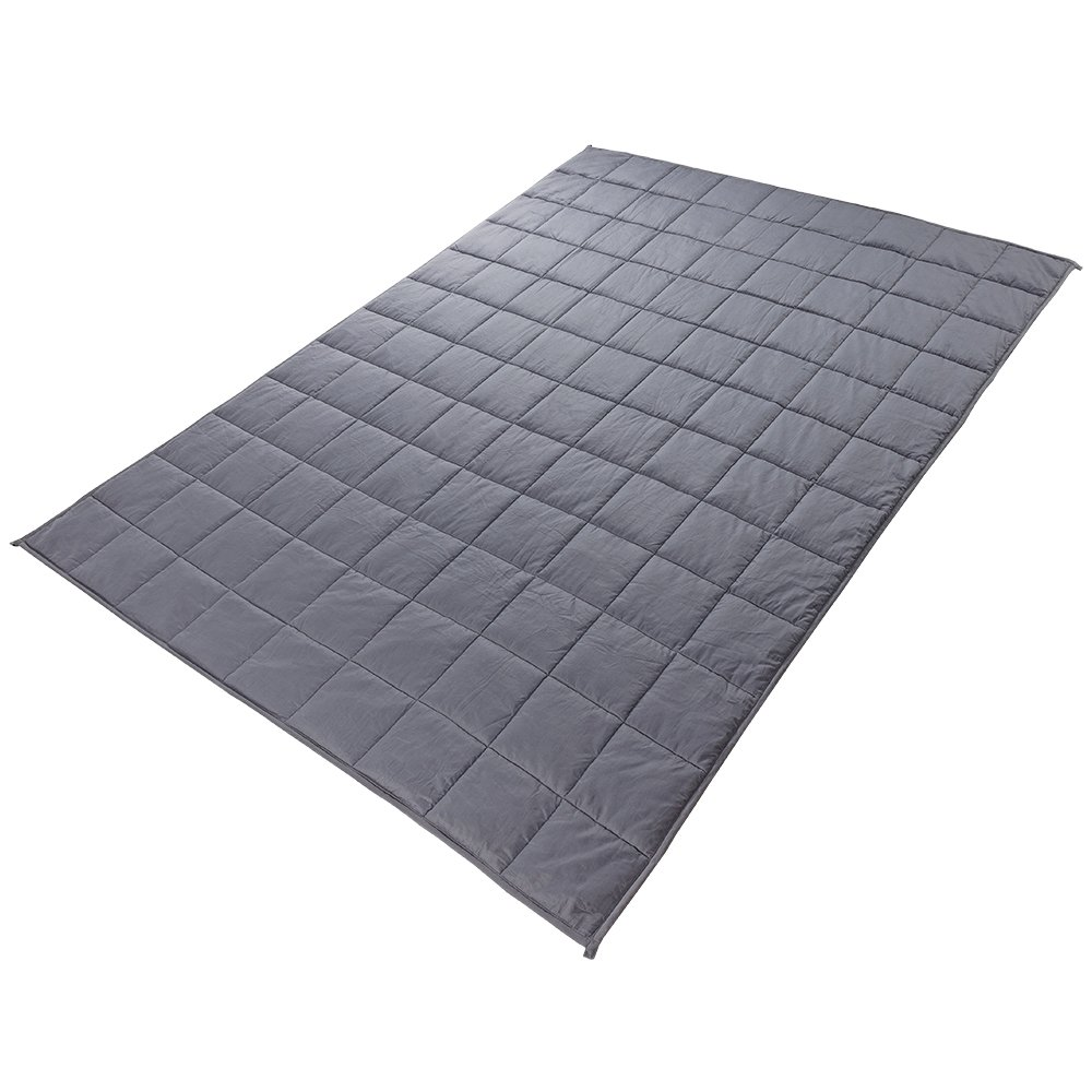 Witlucky Weighted Blanket for Adults, Stress and Anxiety Relief, Improve Sleep Quality, Great for ADHD, Autism, OCD and Sensory Processing Disorder (Grey, 60x80 inch,17 lbs) by Witlucky (Image #4)