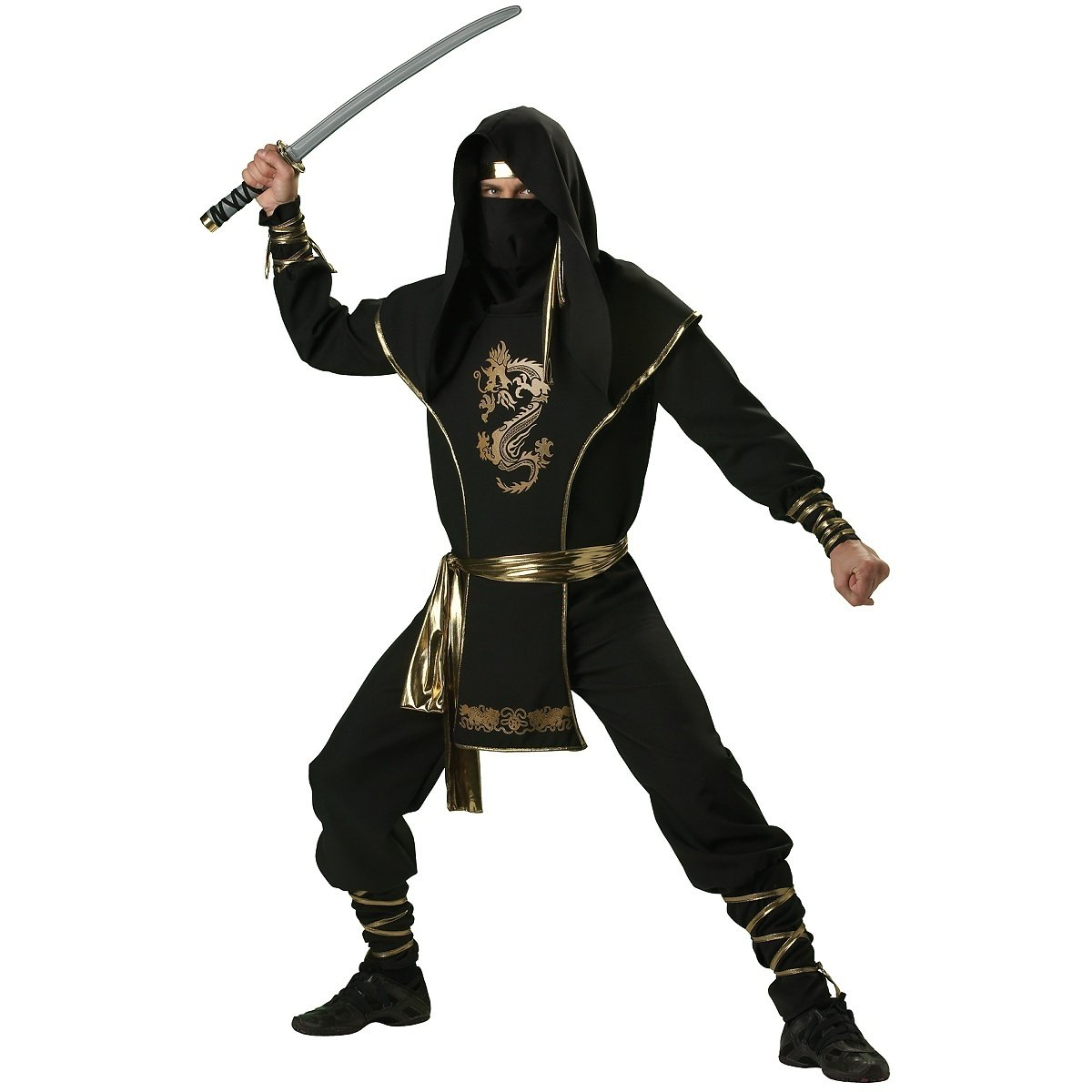 Amazon.com: Ninja Warrior Adult Costume - Medium: Clothing