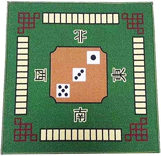 LEERAIN Cubierta De Mesa Cuadrada,Estera La Cubierta Mesa Juego Mahjong,Estera Tabla Mahjong,para El Juego La Fiesta Familiar Poker Azulejo Domino Juegos Cartas Mahjong (78cm X 78cm),Green: Amazon.es: Hogar