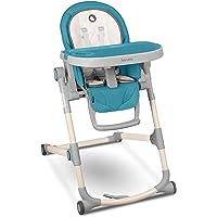 LIONELO Cora krzesełko do karmienia, regulowana podwójna taca, 5-punktowe pasy bezpieczeństwa, miękka wkładka…