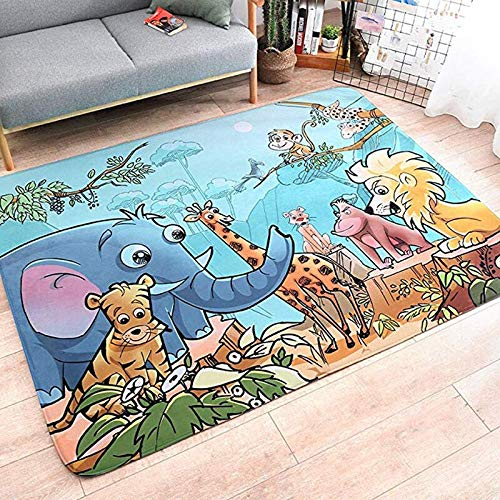 JIFAN Carpet,Safe Kid World Map Durable Early Educational Toddler Adventure Activity Pad Super Large Baby Kids Cotton Rugs Creeping Crawling Mat Cartoon Sleeping Rugs Floor Play Blanket Carpet