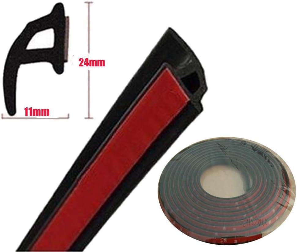 4M Car Door Window Trim Edge Moulding Rubber Noise Weatherstrip Seal Strip Black