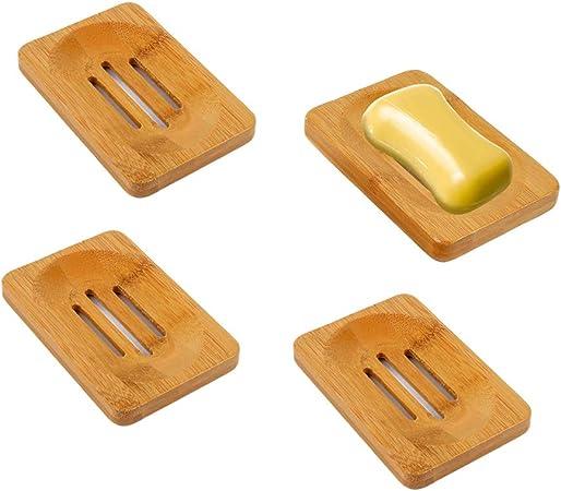 Seifenschale Seifenablage Bambus Seifenhalter Bad Dusche-Halterung Tools