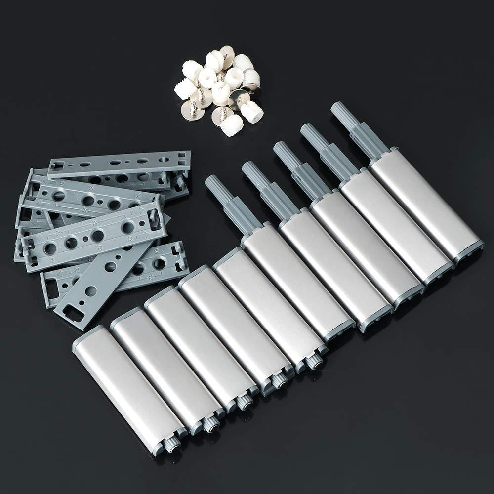 Alise FTQ500-10P Cabinet Door Latch Drawer Push Open Catch System Damper Buffer Catches Set Kit,10 Pack
