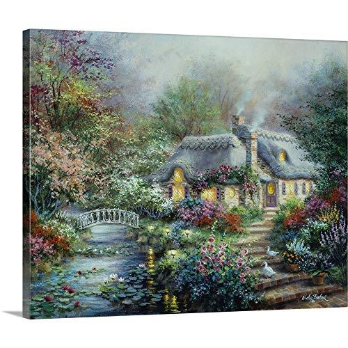(Little River Cottage Canvas Wall Art Print, 30