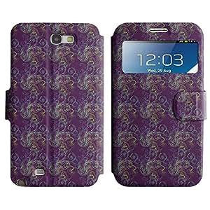 LEOCASE flor linda Funda Carcasa Cuero Tapa Case Para Samsung Galaxy Note 2 N7100 No.1005246