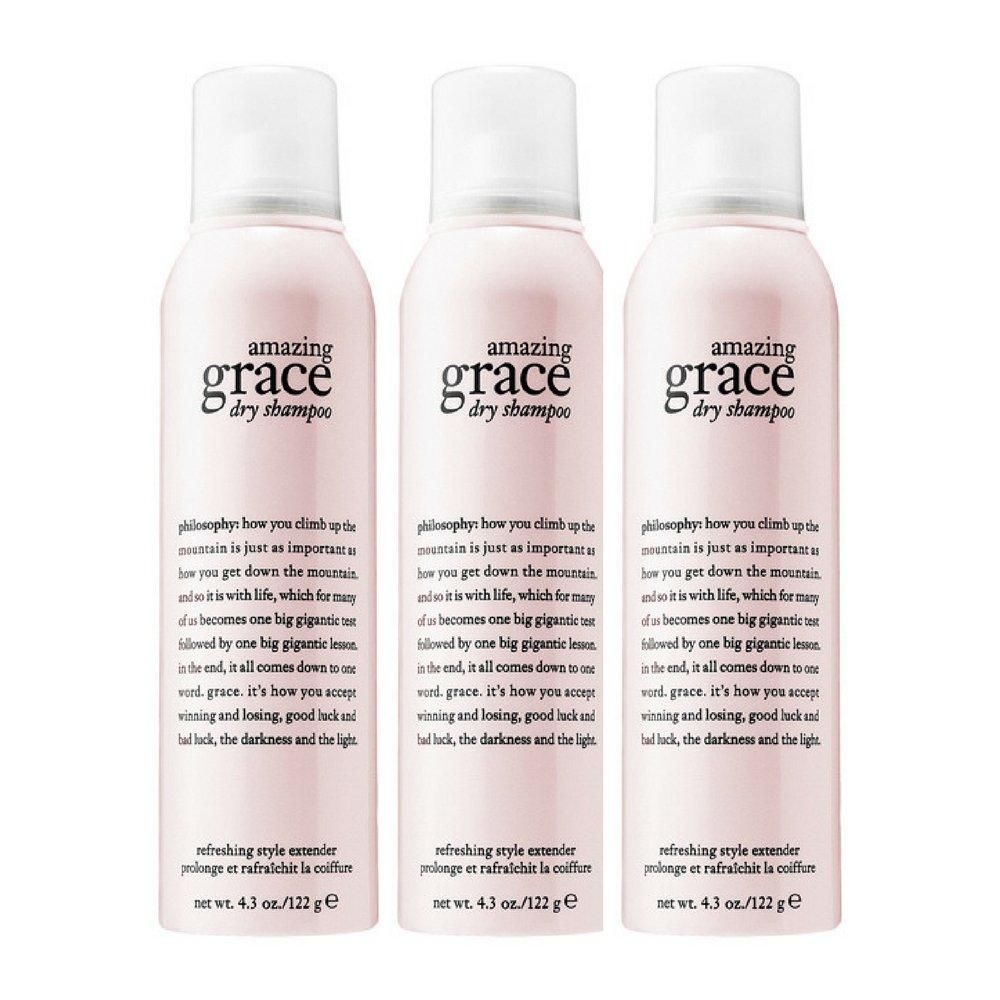 Philosophy Amazing Grace Dry Shampoo, 4.3 Ounce (3 pack)