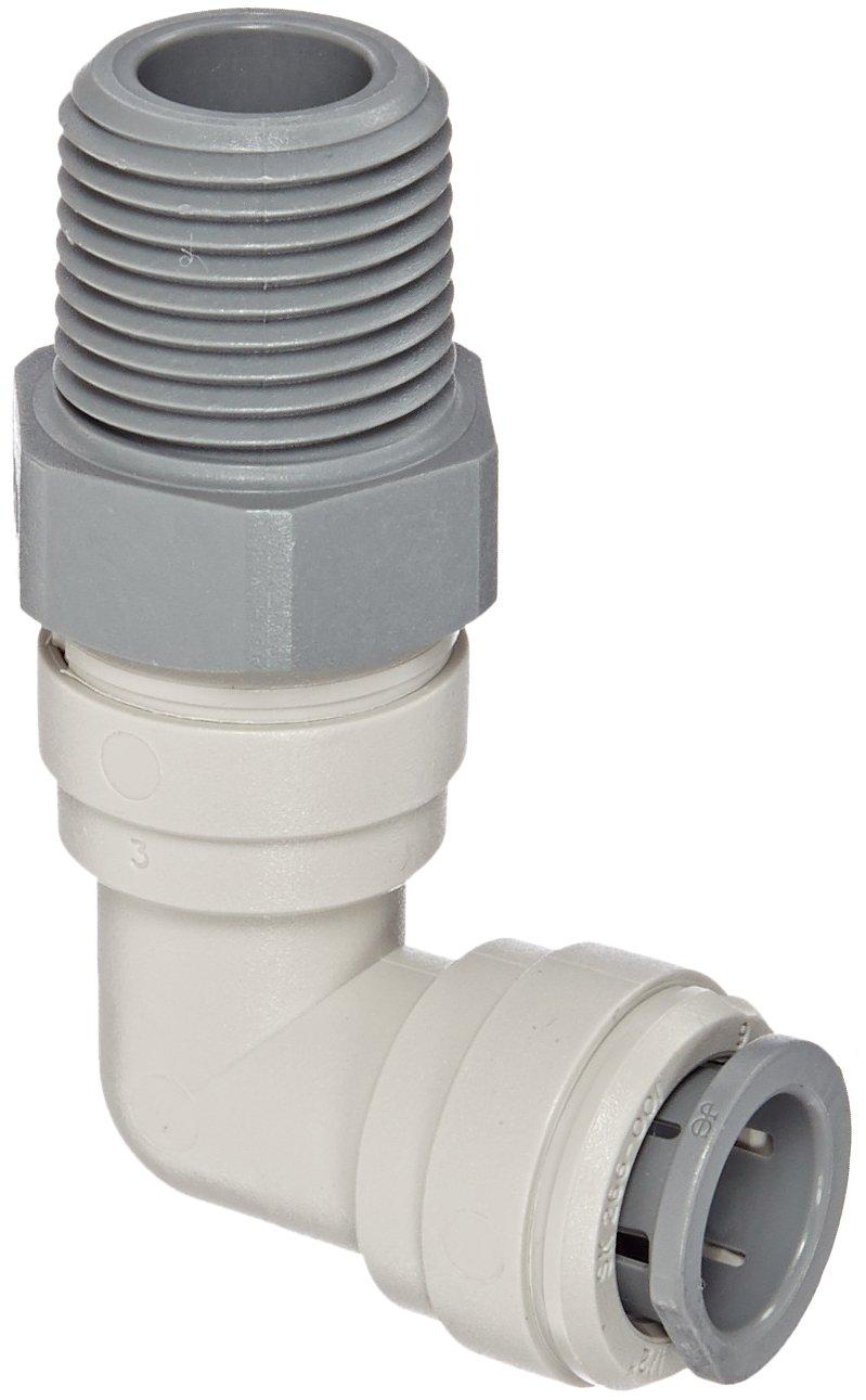Swivel Elbow Pack of 10 1//4 Tube OD x 1//8 NPTF Male John Guest Acetal Copolymer Tube Fitting