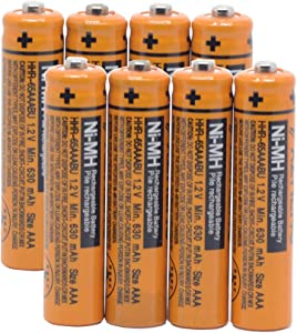 YXZHENG 8X AAA Battery HHR-65AAABU for Panasonic Cordless Phone 1.2V 630mAh Original New Rechargeable NI-MH (8X HHR-65AAABU)