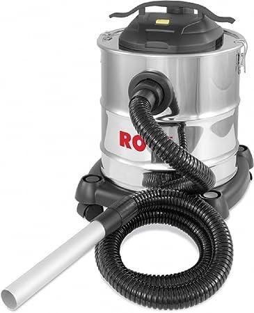 Rowi Chimenea - Aspiradora de cenizas 1200 W con ruedas inox ...