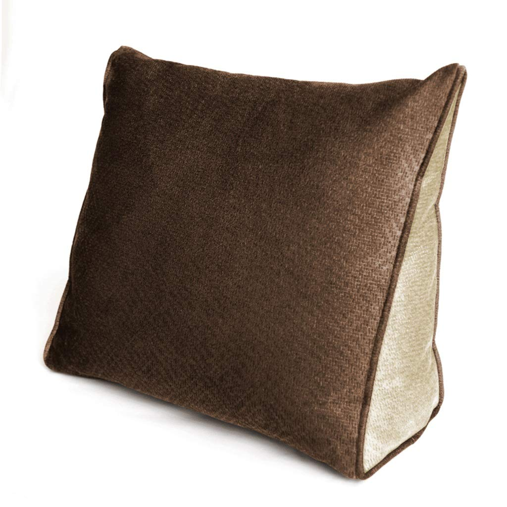 DONGLU Office Cushion Triangle Lumbar Pillow Embossed Pillow (Color : 6#)