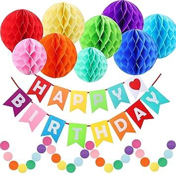 Amazon.com: ZIHAI Decoración de fiesta de cumpleaños arco ...