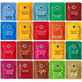 Stash Herbal & Decaf Tea Sampler - 40 Tea Bag, 20 Flavor Assortment - With By The Cup Honey Stix
