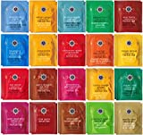: Stash Herbal & Decaf Tea Sampler - 40 Tea Bag, 20 Flavor Assortment - With By The Cup Honey Stix