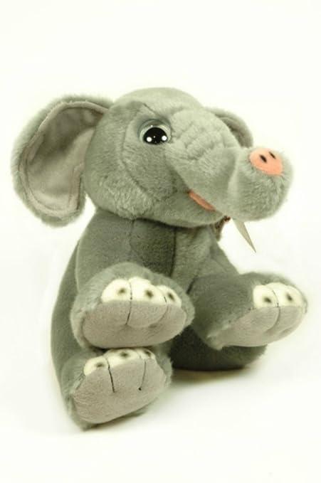 CAPRILO Peluche Decorativo Infantil Elefante Adoptable en Caja. Juguetes Infantiles. Muñecos para Bebés.