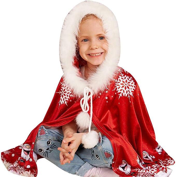 hibote Nuevo Feliz Navidad Copo de Nieve Rojo Capa del Cabo Capa ...