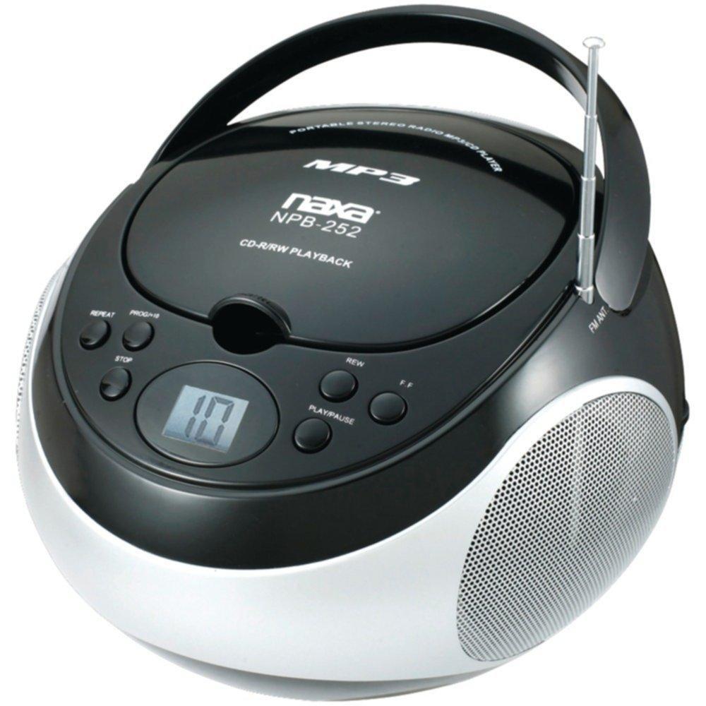 NAXA NPB252BK Portable CD/MP3 Players with AM/FM Stereo (Black) consumer electronics Electronics