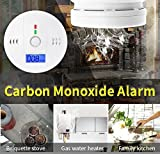 Carbon Monoxide Detector Alarm 2 Pack, CO Alarm Monitor with Digital Display Battery Operated for Home, Room