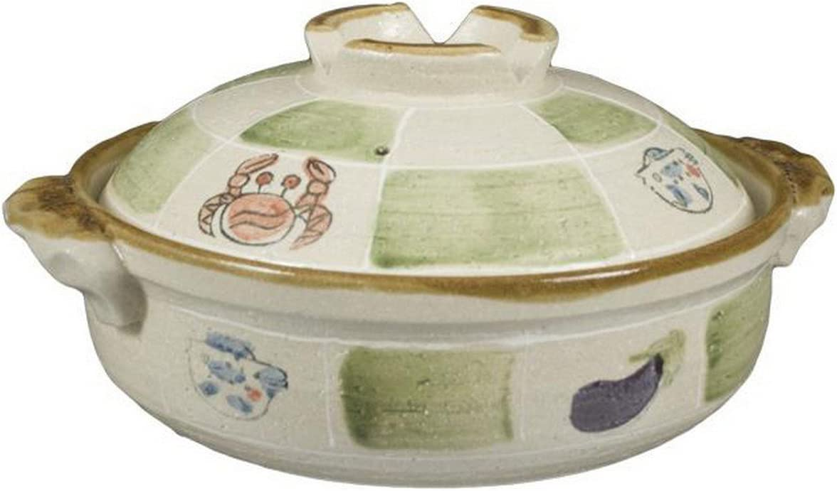 JapanBargain 2861 Japanese Style Earthen Donabe Clay Pot, 9-inches