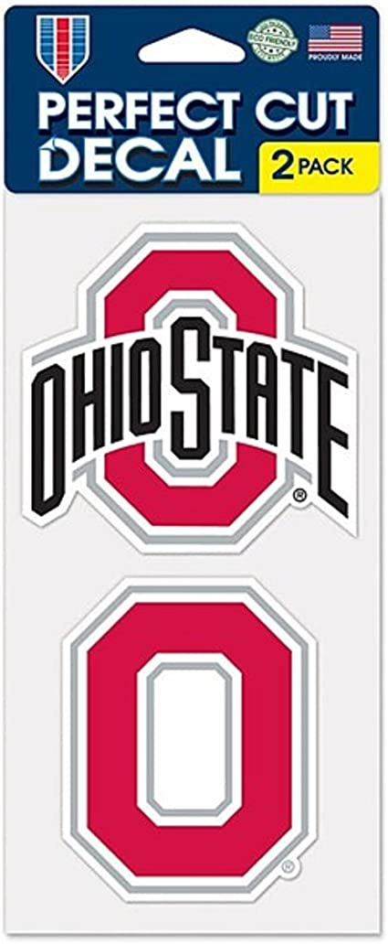 WinCraft NCAA Ohio State University Perfect Cut Decal 4 x 4 Set of 2