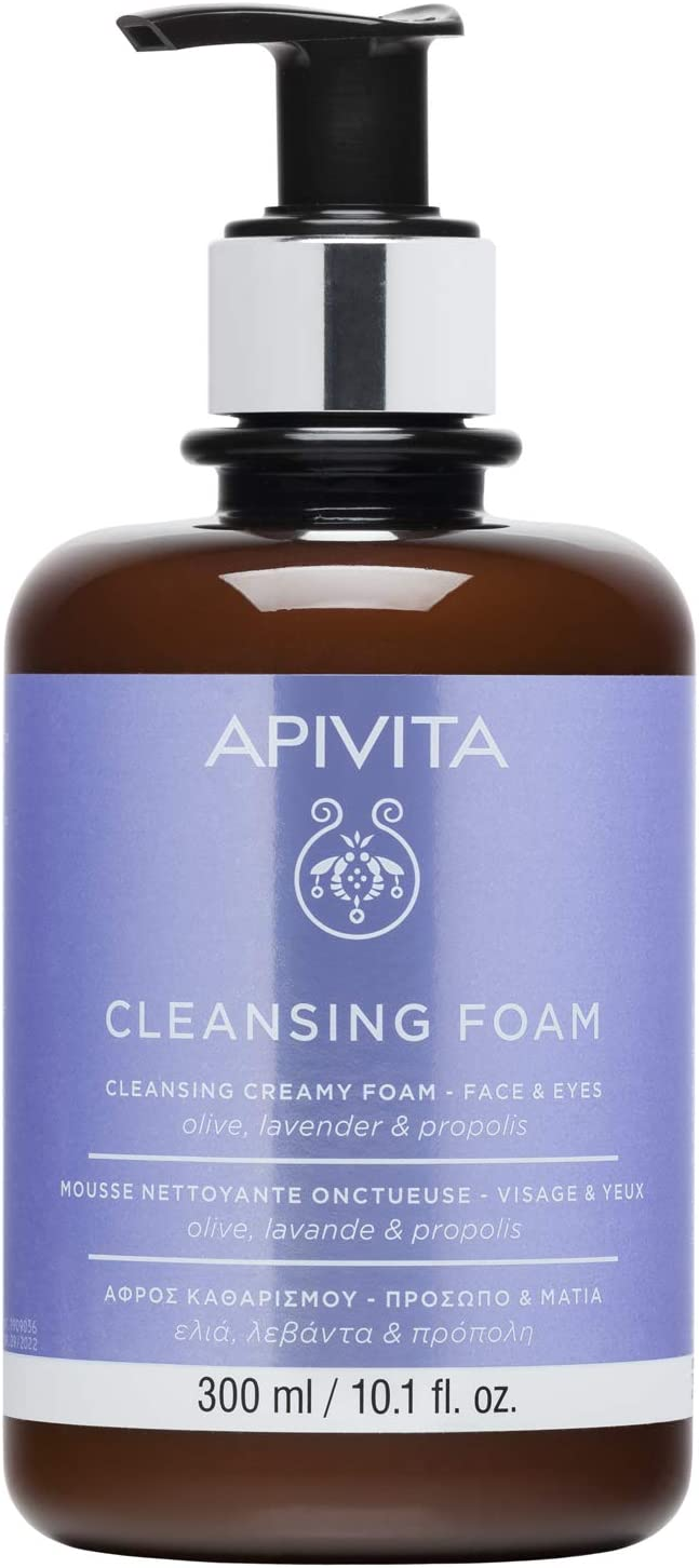 Apivita Foam Cleanser Face & Eye LIMITED EDITION with Olive & Lavender 300ml