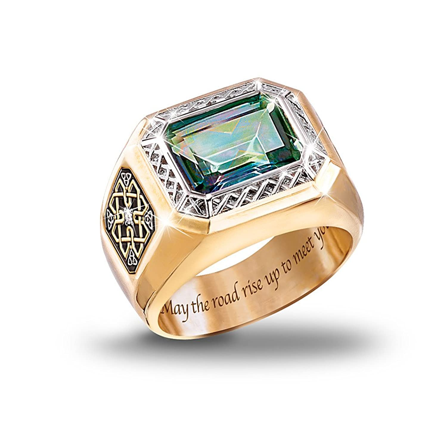 Diamond And Mystic Topaz Men's Ring: Pride Of Ireland by The ...