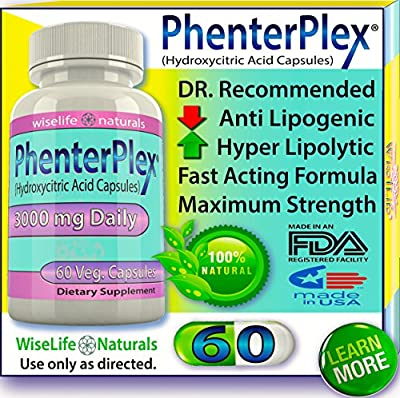 PhenterPlex Maximum Strength Fat Burner Formula - Dr. Recommended Diet Pills That Work Fast for Mens - Womens Weight Loss by Strong Appetite Suppressant Metabolism Booster - 100% Guaranteed Results
