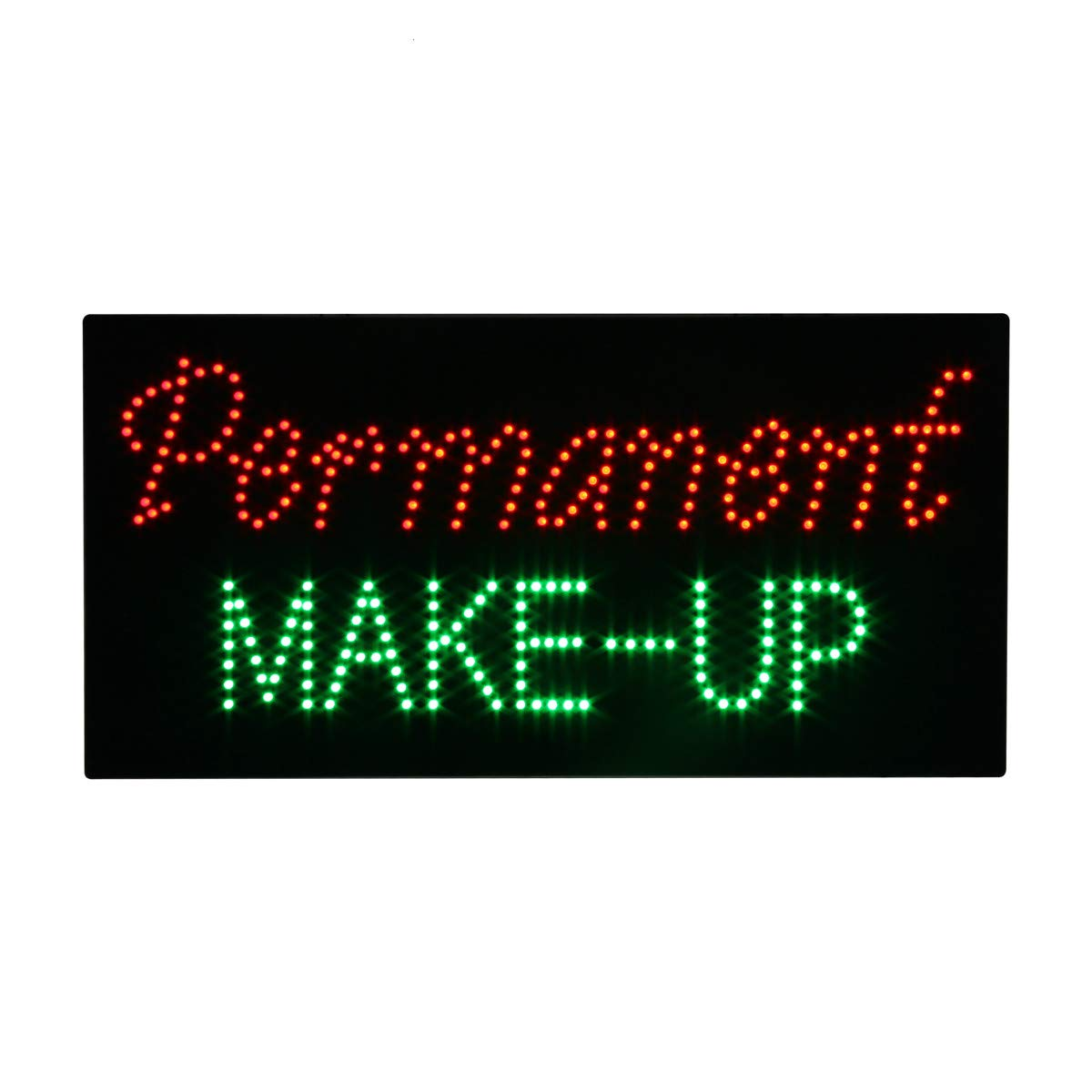 LED Permanent Make up Cosmetics Open Light Sign Super Bright Advertising Display Board for Beauty Eyebrow Lash Microblading Spa Business Shop Store Window Bedroom Decor 24 x 12 inches