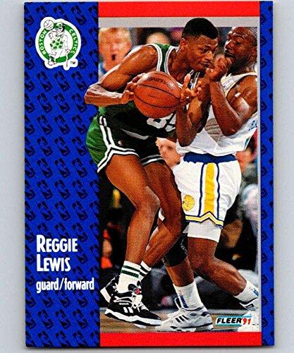 1991-92 Fleer #12 Reggie Lewis Celtics NBA Basketball