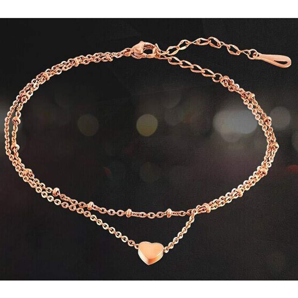 Ciyoon Jewelry Bracelets Bracelet Waterproof and Handmade Charm Simple Heart Chain Beach