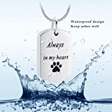 Always in My Heart Necklace, Paw Print Cremation