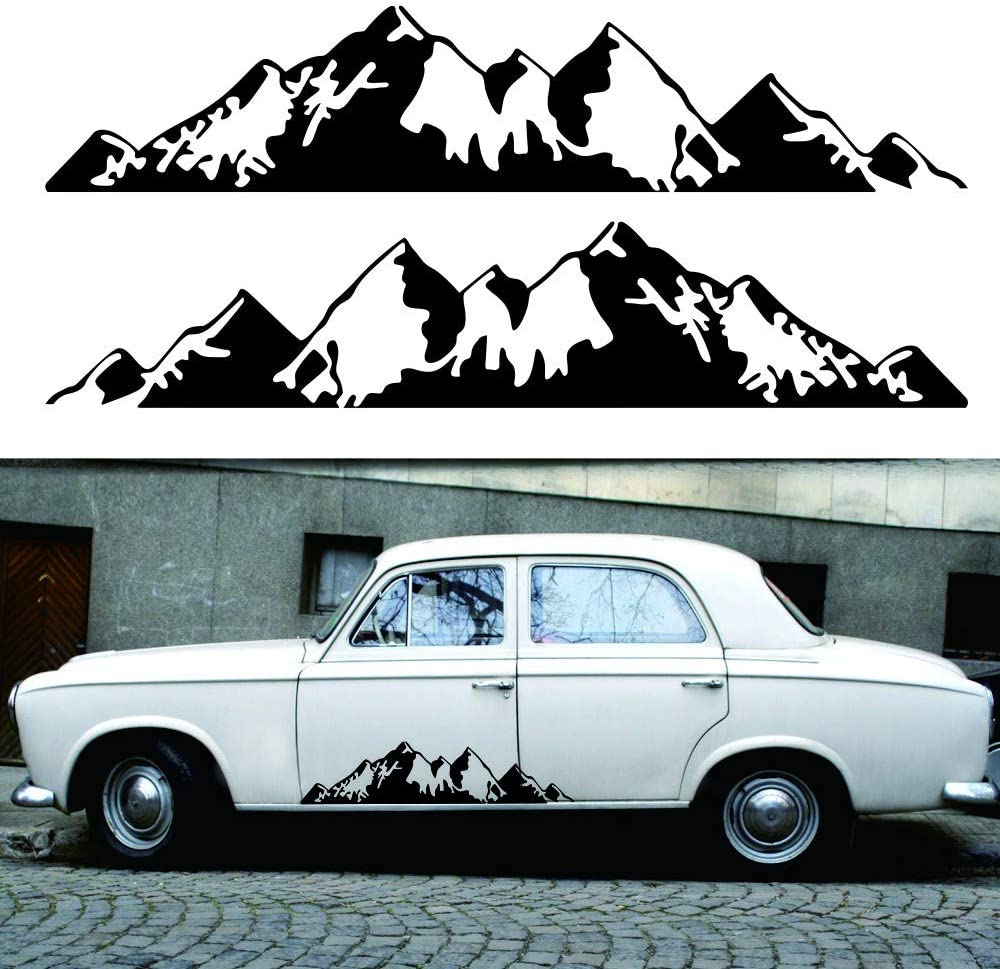 vitihipsy Autocollant de Vinyle de d/écalque de Vinyle de d/écalque de Style de Montagne 30x6.6inch pour Le Camion de Jeep de Voiture de Voiture