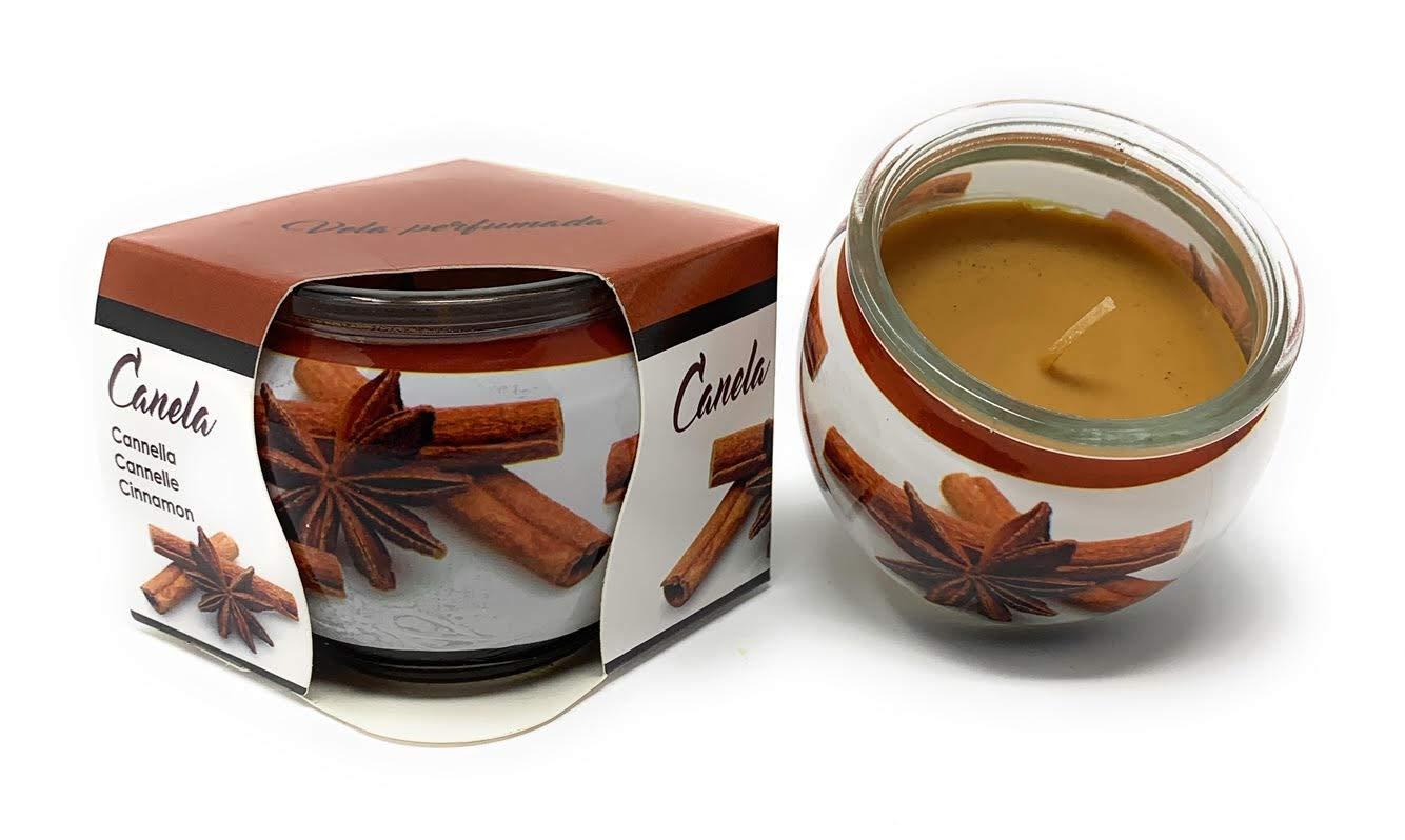 Pot en Verre LNS Bougie parfum/ée Cannelle dur/ée 20h
