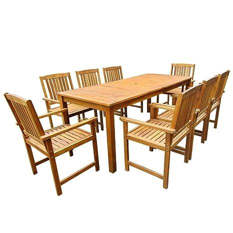 Tavoli E Sedie Per Giardino In Legno.Festnight Set Tavolo E Sedie Da Giardino Legno Massello Acacia