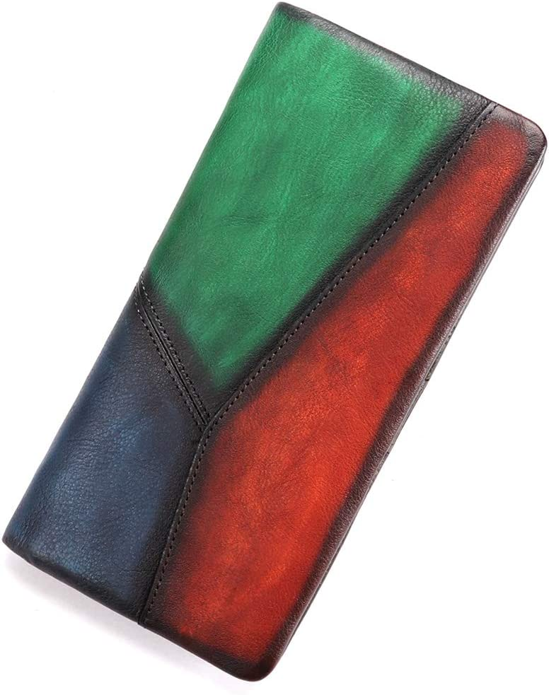 Slim Bifold Leather gift Wallets for Vintage Purs Thin Spasm price Women Handmade