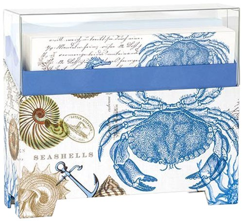 14 Note - Michel Design Works 14 Count Boxed Notes, Seashore