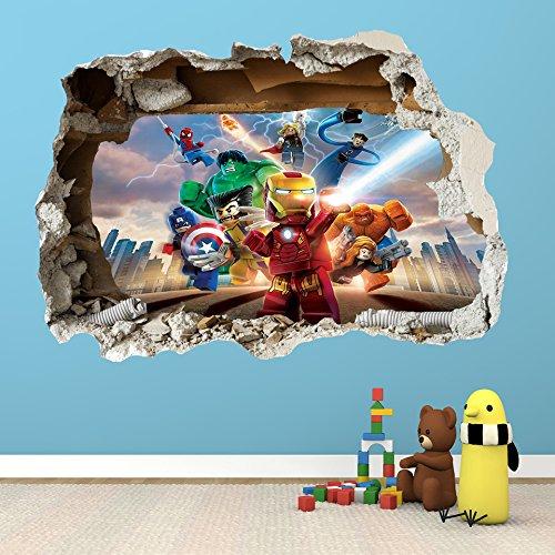 Lego Superhero Wall Decals Custom Vinyl Decals - Girl superhero wall decals