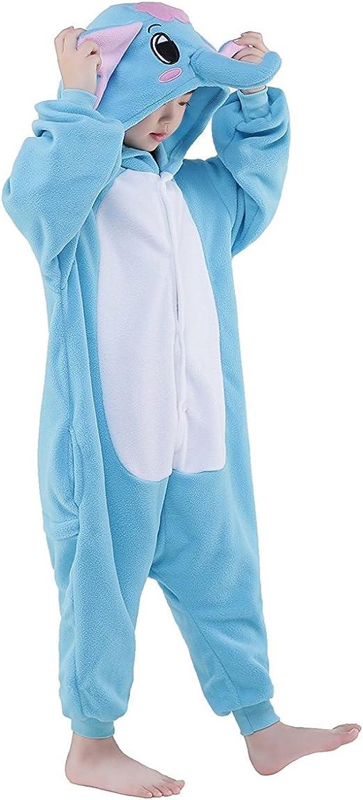 Z-Chen Disfraz de Pijama Animales para Niños, Elefante, 9-11 Años ...