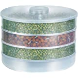 Floraware Plastic Sprout Maker, 4 Containers, White