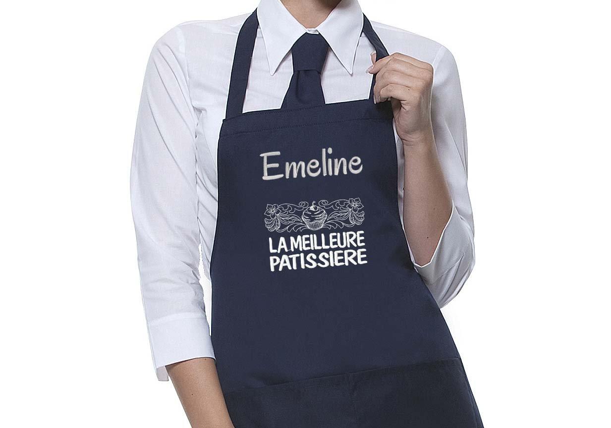 Tablier personnalisé motif Meilleure Patissière, tablier homme ou femme, tablier cuisine, cadeau personnalisé, cadeau personnalisable